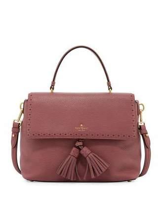 Kate Spade New York James Street Sparrow Leather Satchel Bag, Rich Rum Raisin $428 thestylecure.com