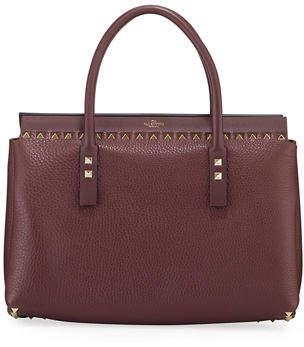 Valentino Garavani Rockstud Small Double Handle Tote Bag