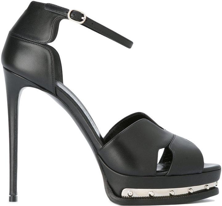 Alexander McQueenAlexander McQueen metal platform sandals
