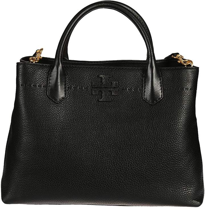 Tory Burch Mcgraw Tote - BLACK - STYLE