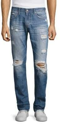 AG Jeans Tellis Modern Slim-Fit Distressed Jeans