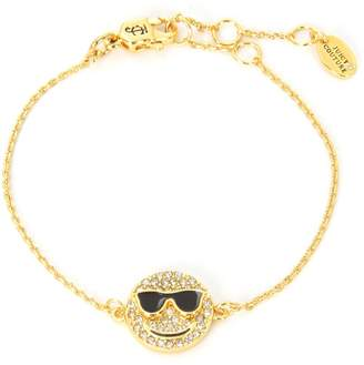 Juicy Couture Pave Smiley Face Wishes Bracelet