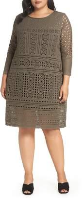 Nic+Zoe Lacey Stud Detail Lace Dress