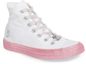 Converse x Miley Cyrus Chuck Taylor All Star Glitter High Top Sneaker