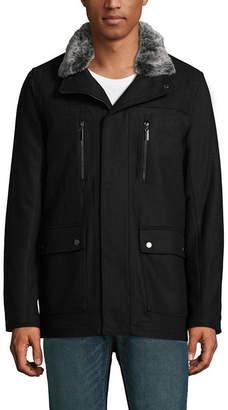 VINTAGE LEATHER Vintage Leather Wool Blend Bomber Jacket