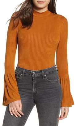 9170677c0d158 Band of Gypsies Cassie Flare Cuff Bodysuit
