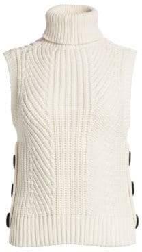 Derek Lam 10 Crosby Sleeveless Knit Turtleneck Top
