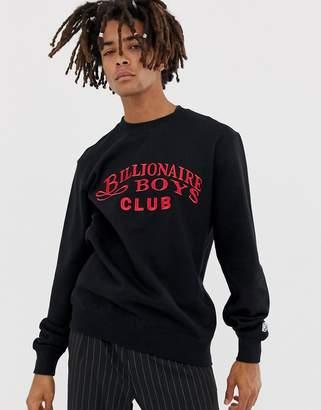 Billionaire Boys Club embroidered script logo sweatshirt in black
