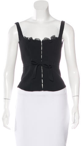 prada Prada Wool Sleeveless Top