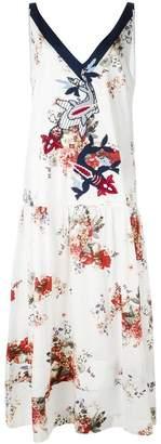 Antonio Marras floral print embroidered dress