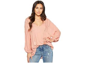 Amuse Society Cool Breeze Woven Top Women's Clothing