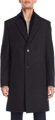MICHAEL Michael Kors Wool Bibbed Long Coat