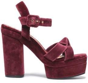 Castaner Knotted Velvet Platform Sandals