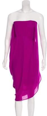Max Azria Silk Strapless Dress w/ Tags