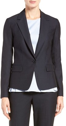 Women's Classiques Entier Stretch Wool One-Button Suiting Jacket $279 thestylecure.com