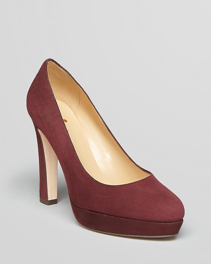Kate Spade Almond Toe Platform Pumps - Nessle High Heel