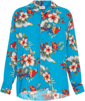 RHUDE Birds Of Paradise Hawaiian Long-Sleeve Shirt