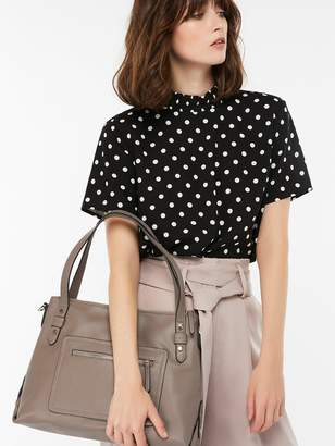 Accessorize Ali Zip Shoulder Bag - Grey