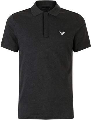 Emporio Armani Panel Logo Polo Shirt