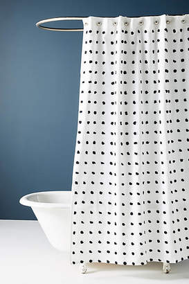 Anthropologie Tufted Makers Shower Curtain