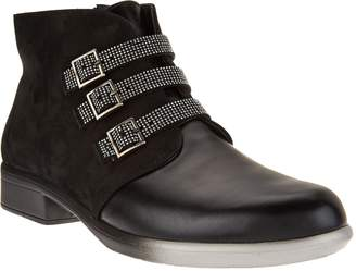 Naot Footwear Leather Ankle Boots w/ Buckle Detail - Vardar