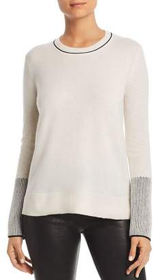 Bloomingdale's C by Rib-Knit Detail Cashmere Sweater - 100% Exclusive