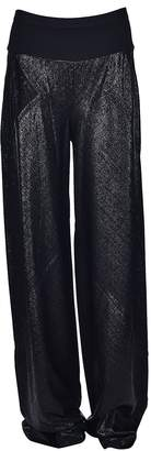 Rick Owens Lilies Metallic Effect Flared Trousers