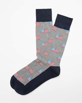 Express American Flag Print Dress Socks