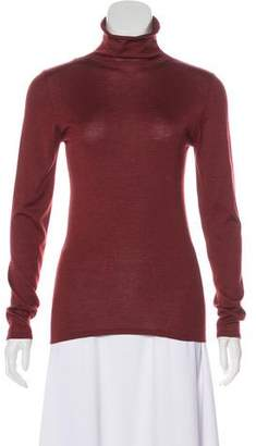 Brunello Cucinelli Cashmere and Silk-Blend Turtleneck Top