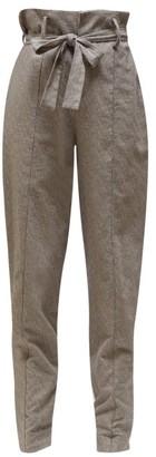 Isabel Marant Emilia Paperbag Waist Trousers - Womens - Grey
