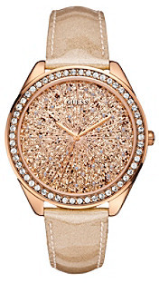 GUESS Rose Goldtone Extra Dazzling Sporty Style Watch