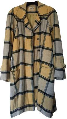 Hermes Yellow Cashmere Coat for Women Vintage