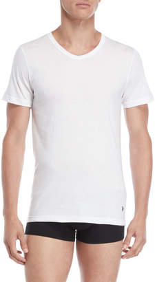 U.S. Polo Assn. 3-Pack White Slim Fit V-Neck Tees