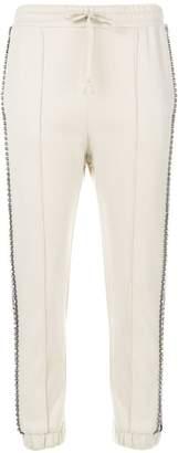 Gucci Cream Crystal Stripe Track Pants