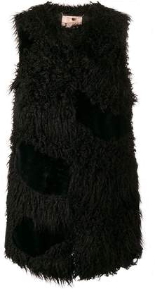 Twin-Set faux shearling gilet