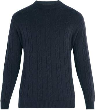 CONNOLLY Clarke crew-neck cable-knit cashmere sweater