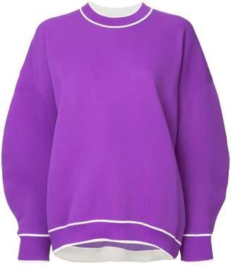 Tibi structured sleeve jumper