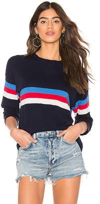 Sundry Stripes Crew Neck Sweater