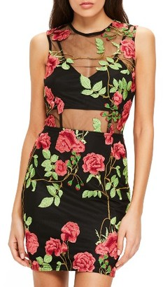 Women's Missguided Embroidered Minidress $123 thestylecure.com