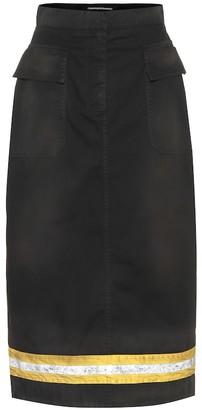 Calvin Klein Striped pencil skirt