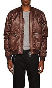 Chapter MEN'S TWILL BOMBER JACKET-WINE SIZE S