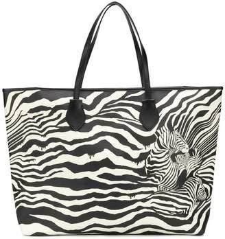 Just Cavalli large zebra print tote