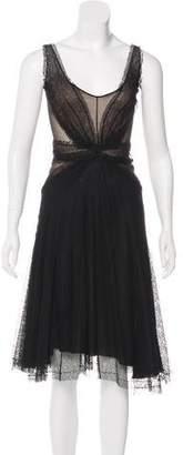 Zac Posen Lace Midi Dress