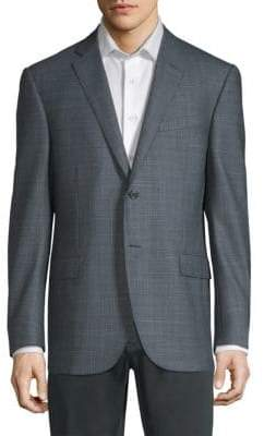 Corneliani Birdseye Academy Wool-Silk Suit Jacket
