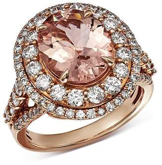 Bloomingdale's Morganite & Diamond Statement Ring in 14K Rose Gold - 100% Exclusive