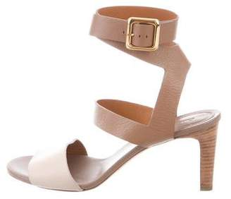Chloé Leather Mid-Heel Sandals