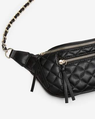 Express Chain Strap Quilted Belt Bag