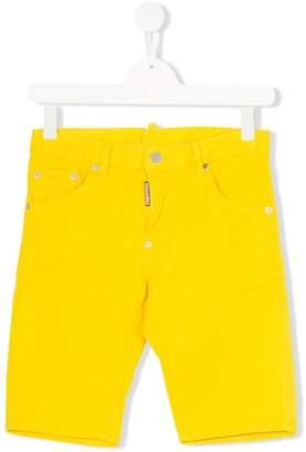 DSQUARED2 Teen stretch denim shorts