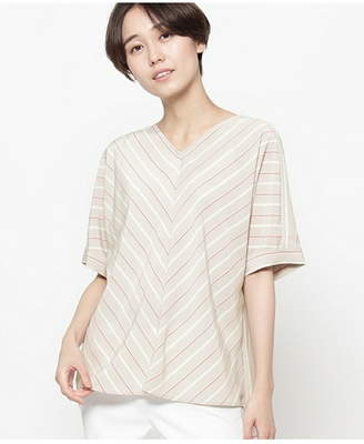 smartpink (スマートピンク) - smart pink デシンストライプシャツ ワールドオンラインストアセレクト シャツ/ブラウス