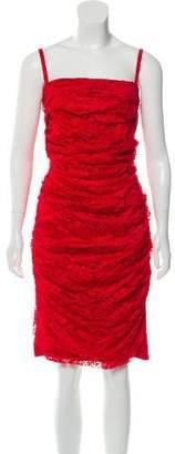 Dolce & Gabbana Ruched Lace Dress